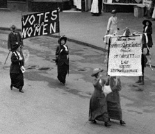 The suffragette march